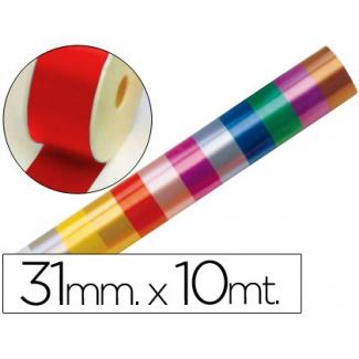 Liderpapel 2410-20 - Cinta fantasía, color rojo, 10 mt x 31 mm