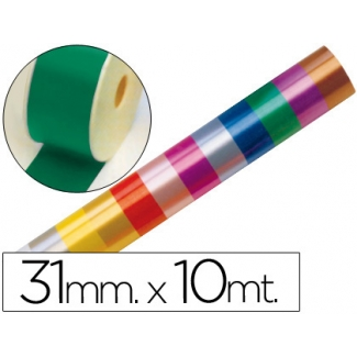Liderpapel 2410-50 - Cinta fantasía, color verde, 10 mt x 31 mm