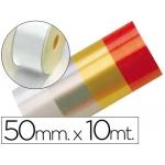 Cinta fantasía 10 mt x 50 mm color blanco