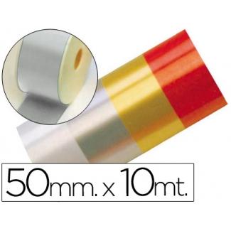 Liderpapel 2410-05 - Cinta fantasía, color plata, 10 mt x 50 mm
