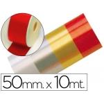 Cinta fantasía 10 mt x 50 mm color rojo