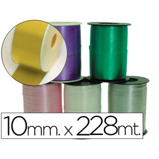 Liderpapel 1000-15 - Cinta para hacer lazos, color oro, 228 mt x 10 mm