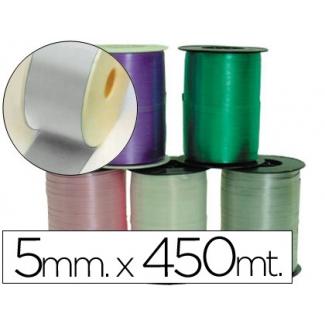 Liderpapel 1000-05 - Cinta para hacer lazos, color plata, 450 mt x 5 mm