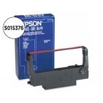 Cinta impresora Epson negro/rojo