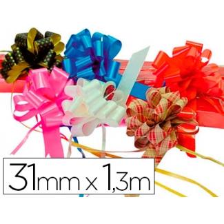 Liderpapel 2200-15 - Cinta para hacer lazos, color oro, 130 cm x 31 mm