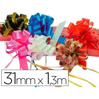 Liderpapel 2200-20 - Cinta para hacer lazos, color rojo, 130 cm x 31 mm
