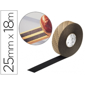Cintas antideslizantes soporte de vinilo adhesivo +abrasivo 18mx25 mm