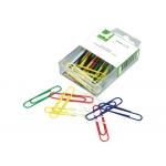 Clips Q-connect 50 mm caja de 30 unidades colores surtidos