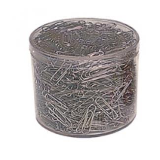 Liderpapel 608-NR - Clips metálicos, planos, nº 2 de 33 mm, cubilete de 1000