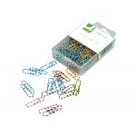 Clips rayados Q-connect 28 mm caja de 100 unidades colores surtidos