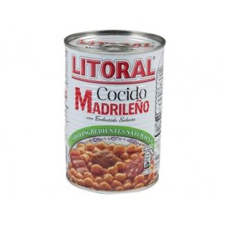 Cocido madrileño Litoral racio Nº individual calentar en microondas y listo 440g