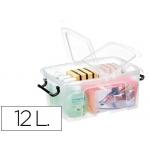 Contenedor plástico Cep 12 litros 405x295x183 mm transparente con tapa y cierre hermético