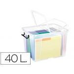 Contenedor plástico Cep 40 litros 397x498x329 mm transparente con tapa y cierre hermético