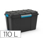 Contenedor plástico Cep scuba 110 litros 460x445x735 mm con 4 asas y ruedas