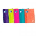 Cuaderno espiral Oxford ebook 5 tapa extradura tamaño A4 120 hojas cuadrícula 5 mm colores surtidos touch