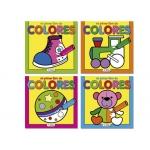 Cuaderno para colorear mi primer libro de colores 72 páginas 160x160 mm