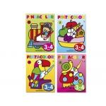 Cuaderno para colorear pinta color para niños de 3-4 años 16 páginas 280x210 mm