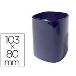 Cubilete portalápices de plástico color azul