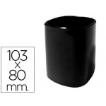 Cubilete portalápices de plástico color negro