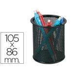 Cubilete portalápices Q-connect metálico de rejilla redondo color negro