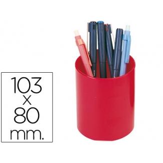 Cubilete portalápices color rojo
