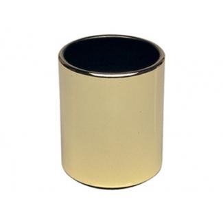 Cubilete portalápices metálico redondo color dorado