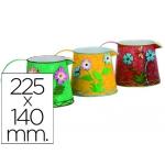 Cubilete portalápices con forma de jarra metálico