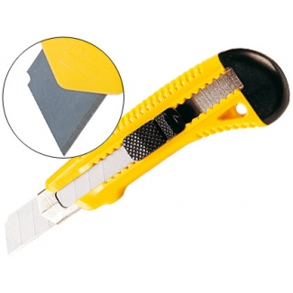 Q-Connect KF10634 - Cúter ancho, con protector de cuchilla metálico