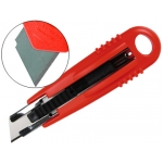 Cuter Q-connect de seguridad con cuchilla retractil