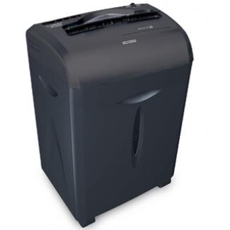 Q-Connect KF15551 - Destructora de papel, corte en partículas, destruye hasta 12 hojas, papelera de 15 litros