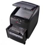 Destructora de documentos Rexel auto+80x capacidad de corte 6 hojas destruye grapas y tarjetas de credito