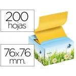 Dispensador bloc de notas adhesivas Post-it 76x76 mm conmotivo floral