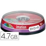 Dvd+r Imation capacidad 4,7gb velocidad 16x bote 10 unidades
