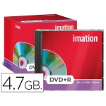 Dvd+r Imation capacidad 4,7gb velocidad 16x caja 1