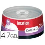 Dvd+r Imation capacidad 4,7gb velocidad 16x imprimible bote 30 unidades