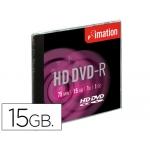 Dvd-r Imation capacidad 15gb d uracion 75min velocidad 1x alta definición caja 1