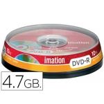 Dvd-r Imation capacidad 4,7gb velocidad 16x bote 10 unidades