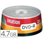 Dvd-r Imation capacidad 4,7gb velocidad 16x bote 25 unidades