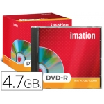 Dvd-r Imation capacidad 4,7gb velocidad 16x caja 1