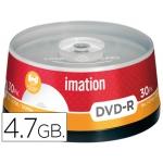 Dvd-r Imation capacidad 4,7gb velocidad 16x imprimible bote 30 unidades