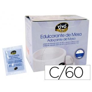 Edulcorante Vivochef de facil disolución caja de 60 sobres