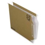 Elba Gio 400021926 - Carpeta colgante, tamaño A4, visor lateral, kraft bicolor
