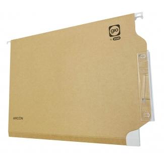 Elba Gio 400021940 - Carpeta colgante, tamaño folio, visor lateral, kraft bicolor