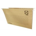 Elba Gio 400021947 - Carpeta colgante, tamaño A4, visor superior, kraft bicolor