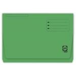 Elba Gio Pocket - Subcarpeta de cartulina, Folio, 250 gr/m2, color verde, con bolsa y solapa