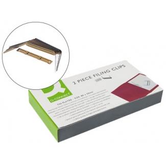 Encuadernador fastener Q-connect color dorado caja de 100