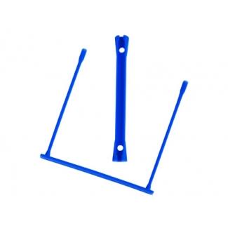 Encuadernador fastener Q-connect plástico e-clips color azul caja de 100 unidades