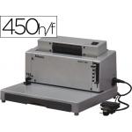 Encuadernadora eléctrica para espiral Fellowes perfora 20 H encuaderna hasta 450 hojas paso 5:1