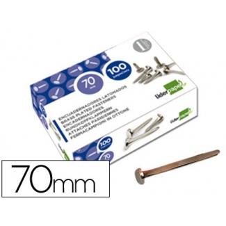 Liderpapel FS18 - Encuadernador, niquelado, nº 12, longitud de 70 mm, caja de 100