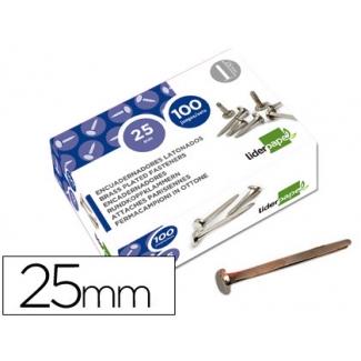 Liderpapel FS13 - Encuadernador, niquelado, nº 5, longitud de 25 mm, caja de 100